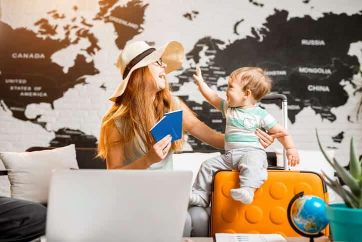 viajando com o bebê